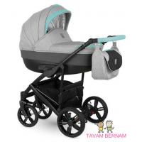 Camarelo Baleo 2-1 Ba-3 (pelēka / zila) bērnu kulbu rati